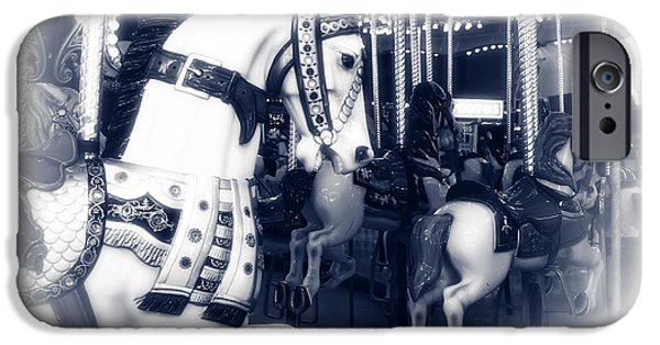 Seaside Heights iPhone Cases - Seaside Heights Carousel iPhone Case by John Rizzuto