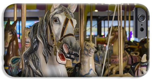 Jersey Shore iPhone Cases - Seaside Heights Casino Carousel  iPhone Case by Susan Candelario