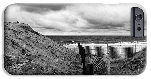 Seaside Heights iPhone Cases - Seaside Heights No Boardwalk mono iPhone Case by John Rizzuto