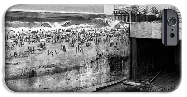 Seaside Heights iPhone Cases - Seaside Heights on the Wall mono iPhone Case by John Rizzuto