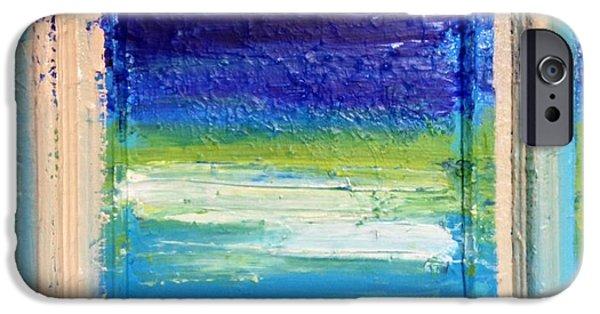 Anna Villarreal Garbis iPhone Cases - Seaside I iPhone Case by Anna Villarreal Garbis