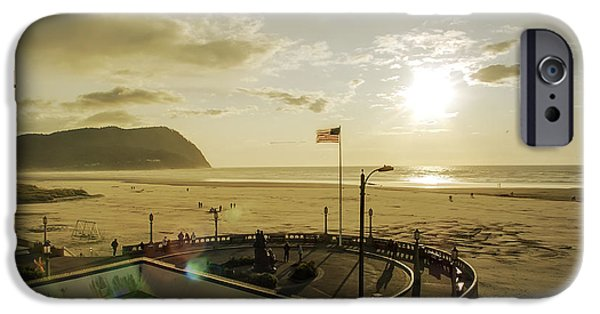 Old Glory iPhone Cases - Seaside Oregon Beach iPhone Case by Daniel Hagerman