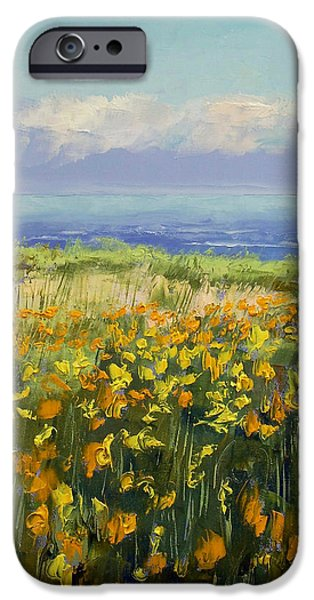 Seaside iPhone Cases - Seaside Poppies iPhone Case by Michael Creese