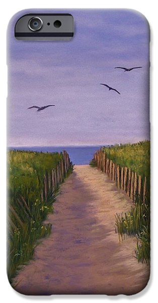 Cape Cod Pastels iPhone Cases - Seaside Trail iPhone Case by Candice Ferguson