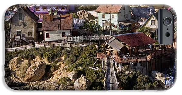 Clapboard House iPhone Cases - Seaside Village Under The Cliffs, Malta iPhone Case by Tim Holt