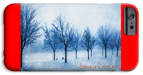Christmas Greeting iPhone Cases - Season of Greetings iPhone Case by Kathy Bassett