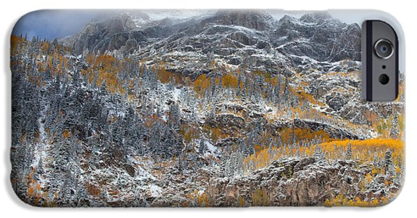 Scenic Print Photographs iPhone Cases - Seasonal Chaos iPhone Case by Darren  White