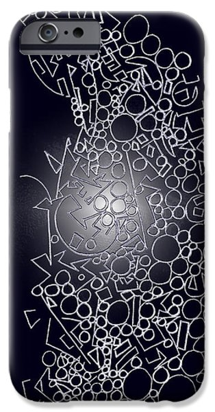 Abstract Digital Drawings iPhone Cases - Seasonal Light 1 iPhone Case by Sheila Murphy