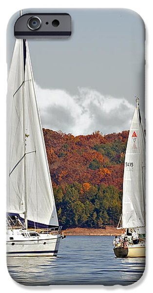 Seasonal Sailing iPhone Case by Susan Leggett