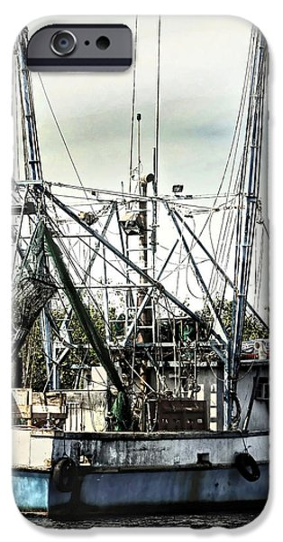 Seasoned Fishing Boat iPhone Case by Debra Forand