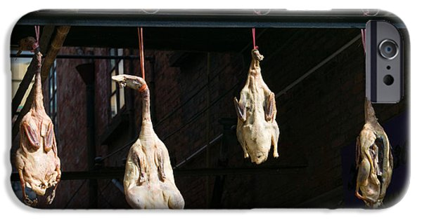 Chinese Market iPhone Cases - Seasoning Peking Ducks Hanging For Sale iPhone Case by Panoramic Images