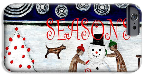 Miracle iPhone Cases - Seasons Greetings 14 iPhone Case by Patrick J Murphy