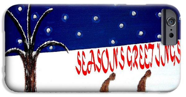 Miracle iPhone Cases - Seasons Greetings 3 iPhone Case by Patrick J Murphy