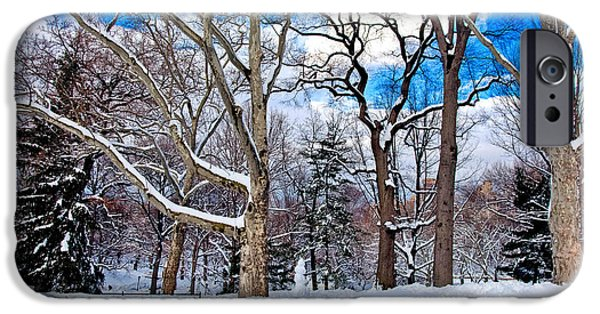 Snowy Day iPhone Cases - Seasons Greetings iPhone Case by Madeline Ellis