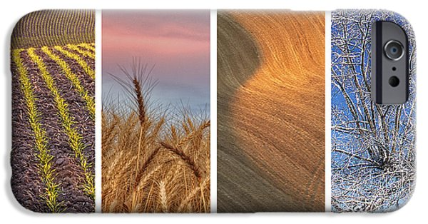 Contour Plowing iPhone Cases - Seasons of the Palouse iPhone Case by Latah Trail Foundation