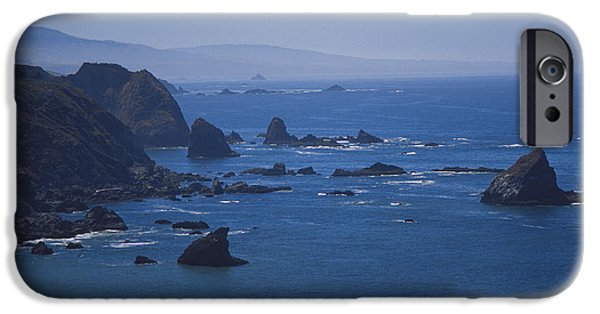 Ocean Of Emptiness iPhone Cases - Seastacks iPhone Case by Chris Selby