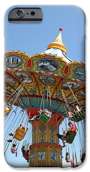 Seaswings At Santa Cruz Beach Boardwalk California 5D23905 iPhone Case by Wingsdomain Art and Photography