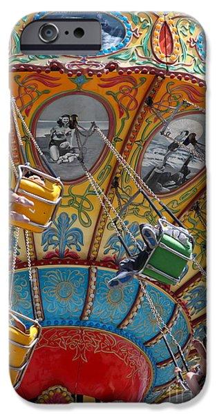 Seaswings At Santa Cruz Beach Boardwalk California 5D23906 iPhone Case by Wingsdomain Art and Photography