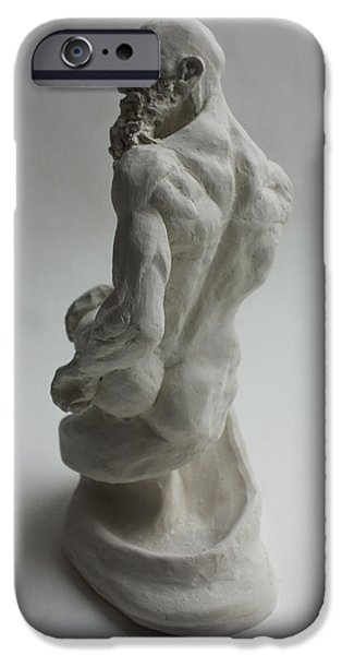 Nudes Sculptures iPhone Cases - Seated Genie  iPhone Case by Derrick Higgins