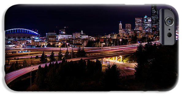 Evening iPhone Cases - Seattle Bend iPhone Case by Chad Dutson