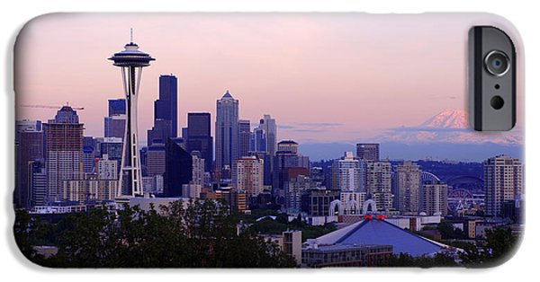 Seattle iPhone Cases - Seattle Dawning iPhone Case by Chad Dutson