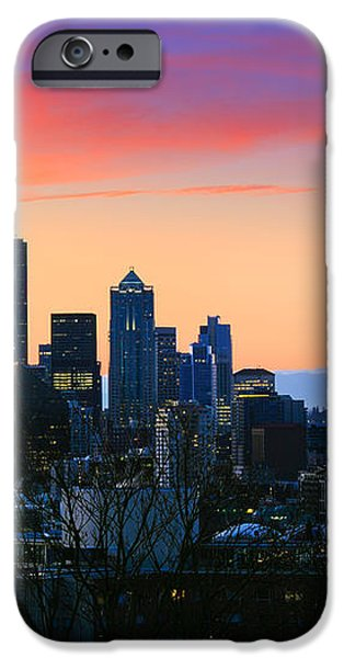 Seattle Downtown Morning iPhone Case by Inge Johnsson