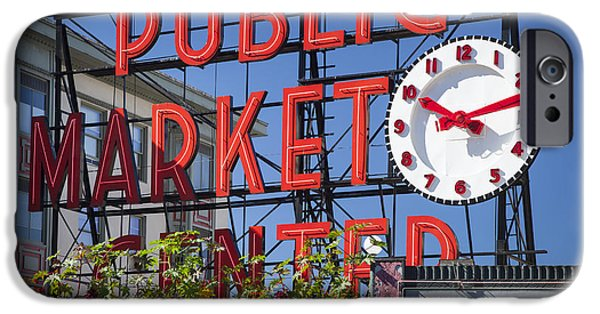 Locally Grown iPhone Cases - Seattle Market  iPhone Case by Brian Jannsen