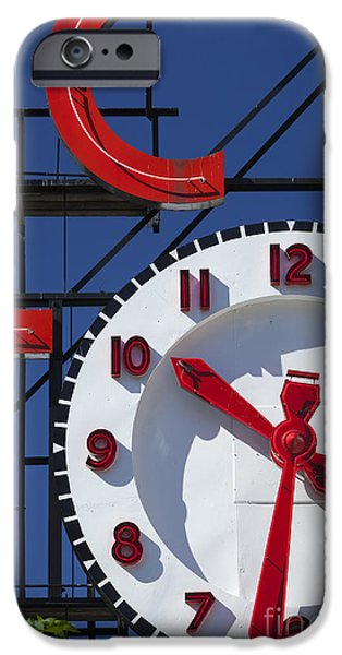 Locally Grown iPhone Cases - Seattle Market Sign iPhone Case by Brian Jannsen