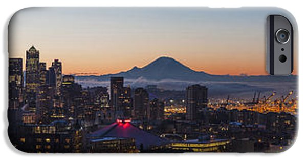 Morning iPhone Cases - Seattle Morning Glow iPhone Case by Mike Reid