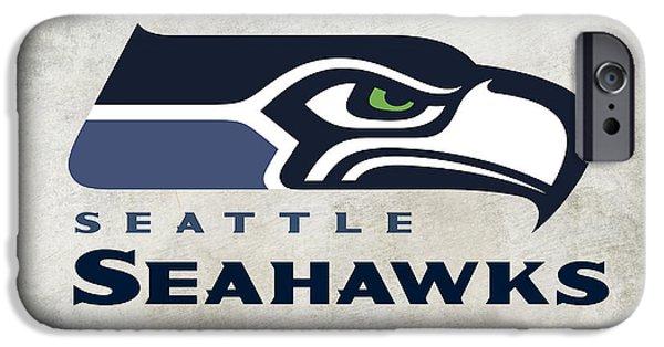 Pro Football iPhone Cases - Seattle Seahawks Fan Panel iPhone Case by Daniel Hagerman
