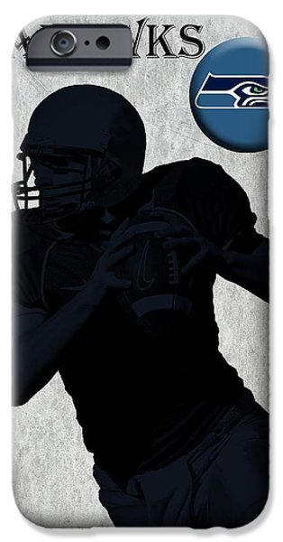 Pro Football iPhone Cases - Seattle Seahawks Football iPhone Case by David Dehner