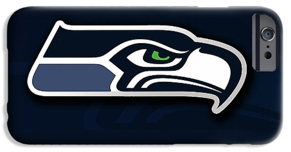 Seattle iPhone Cases - Seattle Seahawks iPhone Case by Marvin Blaine