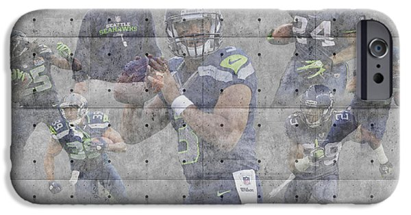 Seahawks iPhone Cases - Seattle Seahawks Team iPhone Case by Joe Hamilton