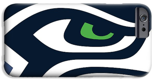Icon Mixed Media iPhone Cases - Seattle Seahawks iPhone Case by Tony Rubino