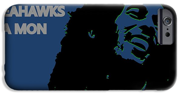 Drum Sets iPhone Cases - Seattle Seahawks Ya Mon iPhone Case by Joe Hamilton