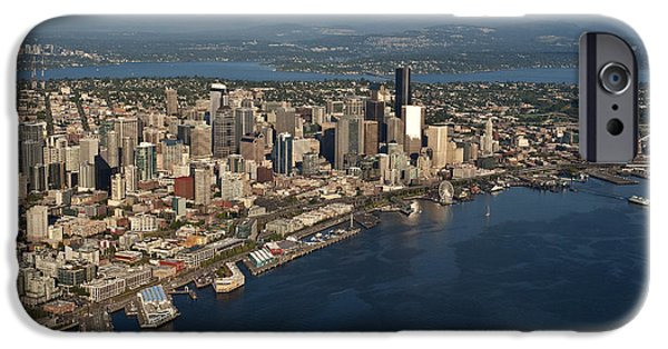 Local Attraction iPhone Cases - Seattle Skyline, Elliott Bay & Ferry iPhone Case by Jim Corwin