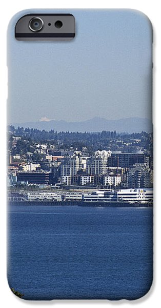 Seattle Space Needle and Fire Boat iPhone Case by Ron Roberts