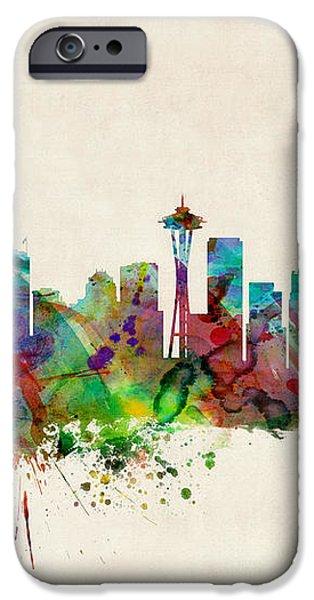 Seattle Washington Skyline iPhone Case by Michael Tompsett