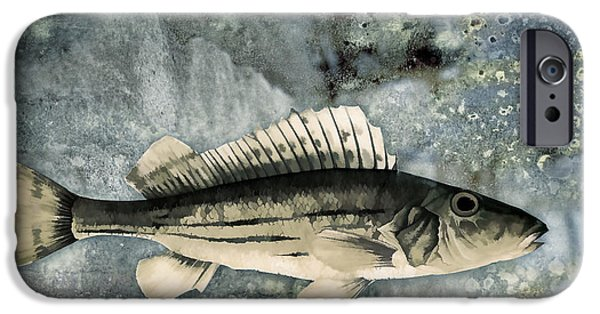 Fish Mixed Media iPhone Cases - Seaworthy iPhone Case by Carol Leigh