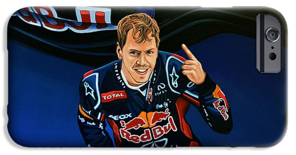 Austrian iPhone Cases - Sebastian Vettel iPhone Case by Paul Meijering