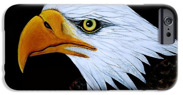 American Eagle Paintings iPhone Cases - Sebaztian iPhone Case by Adele Moscaritolo