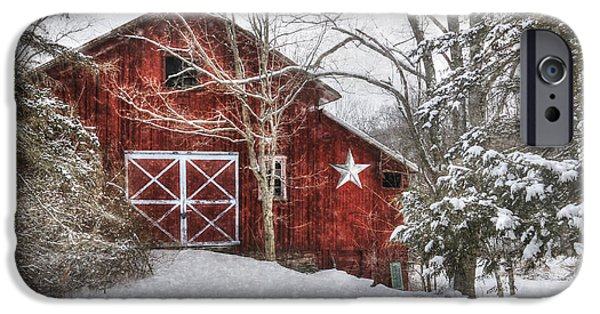 Barns Digital Art iPhone Cases - Secluded iPhone Case by Lori Deiter