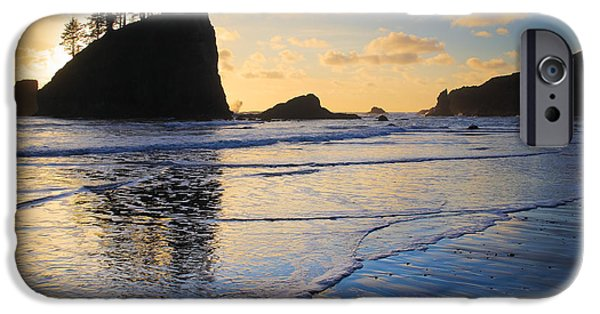 Solitude Photographs iPhone Cases - Second Beach Waves iPhone Case by Inge Johnsson