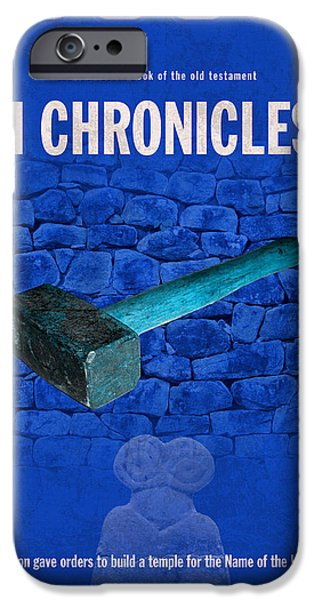 Second Chronicles Books Of The Bible Series Old Testament Minimal Poster Art Number 14 iPhone Case by Design Turnpike