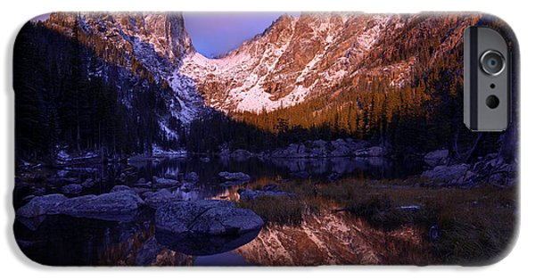 Tree Reflection iPhone Cases - Second Light iPhone Case by Chad Dutson