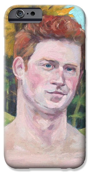 Prince Harry iPhone Cases - Second Sonflower iPhone Case by William Noonan