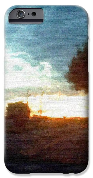 Second Sunset iPhone Case by Pharris Art