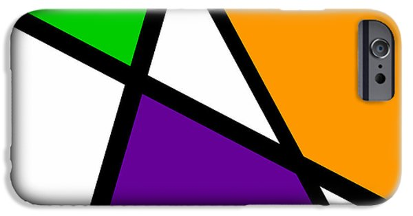 Asymmetrical iPhone Cases - Secondary Triangularism I iPhone Case by Richard Reeve