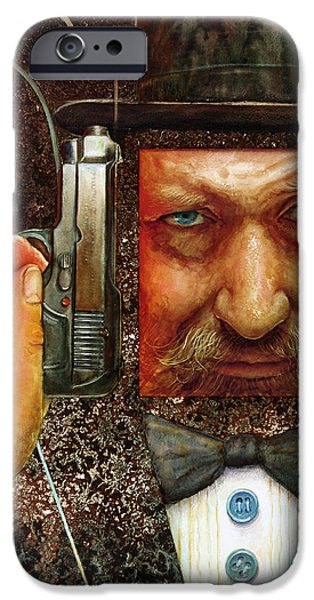 Detectives iPhone Cases - Secret Agent  iPhone Case by Frank Robert Dixon