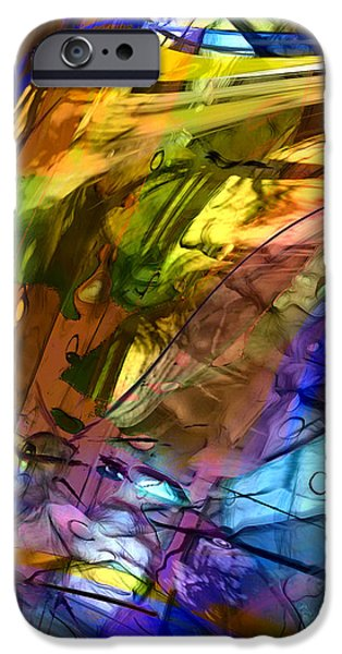 Abstract Expressionism iPhone Cases - Secret Animal iPhone Case by Richard Thomas